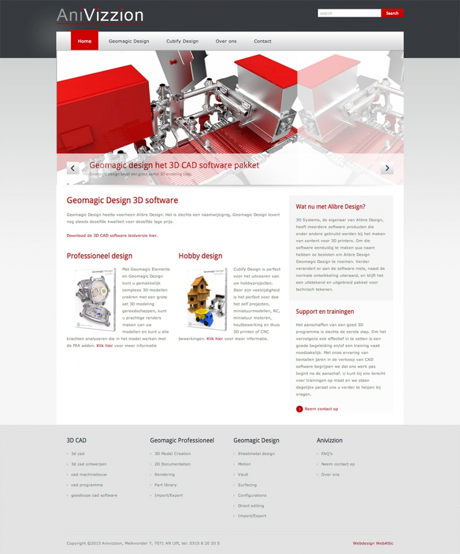 Joomla website Geomagic design