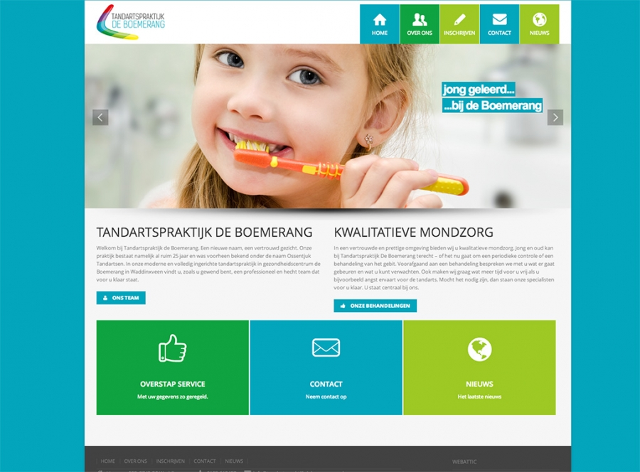 Tandarts webdesign