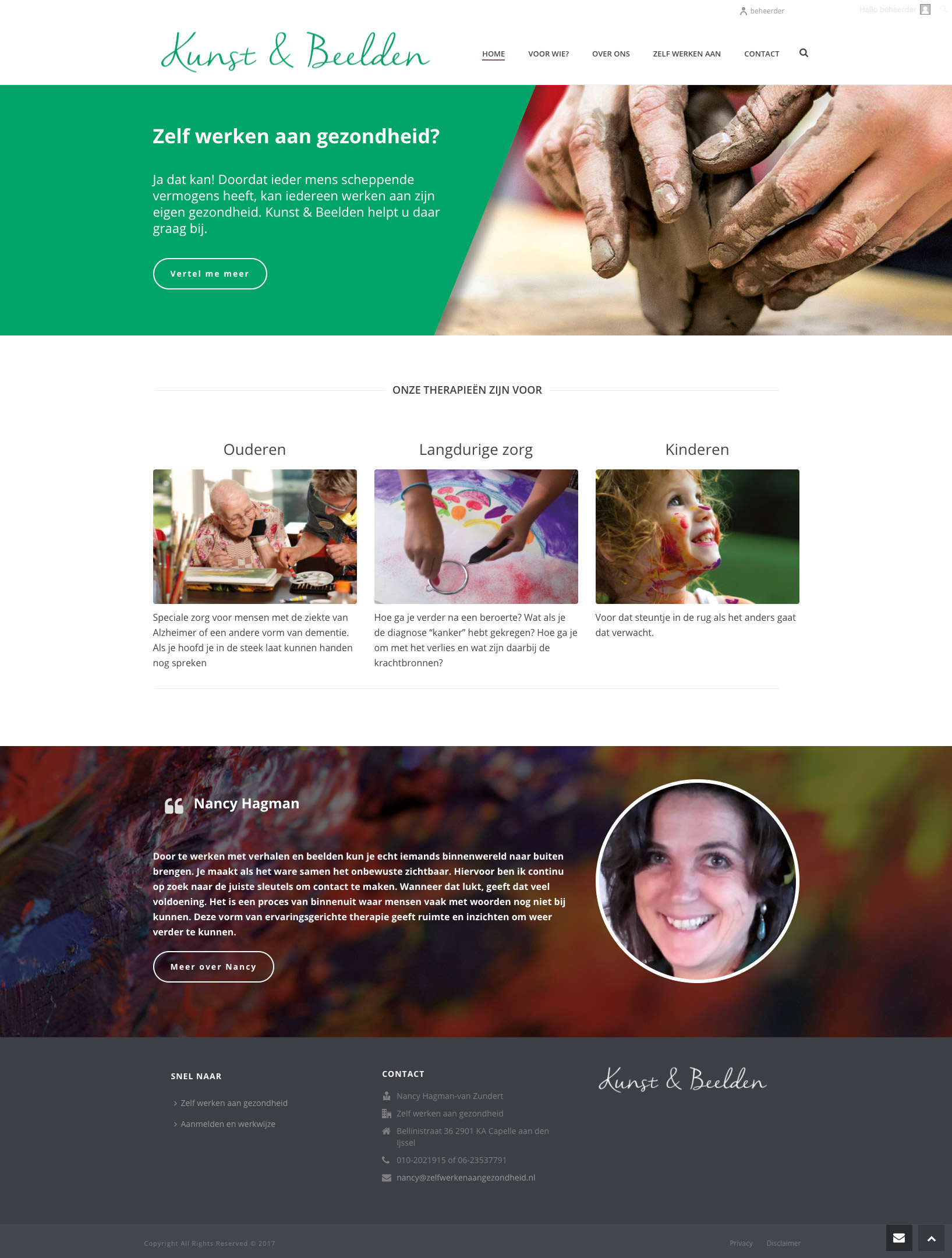 webontwerp zelfwerkenaangezondheid